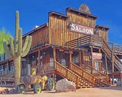 Western Vintage Salon paint by numbers