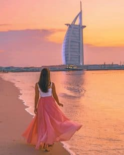 Woman In Dubai Paint by numbers