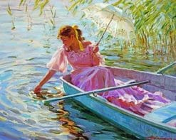 Woman On A Boat Paint by numbers
