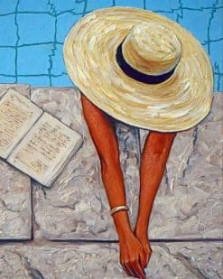 Woman Wearing A Big Sunhat paint by numbers