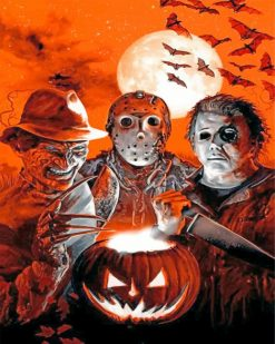 jason-voorhees-and-his-scary-friends-paint-by-number