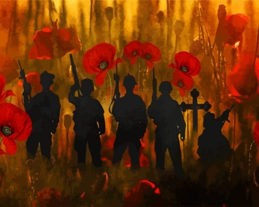 poppies-and-soldiers-silhouette-paint-by-numbers