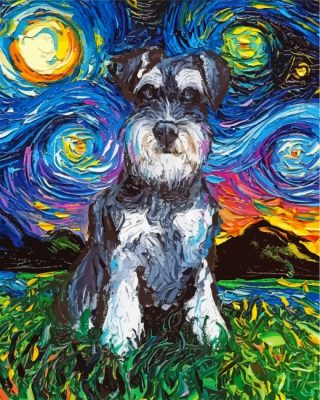 schnauzer-starry-night-paint-by-numbers