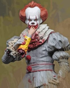 Bloody Pennywise paint by numbers