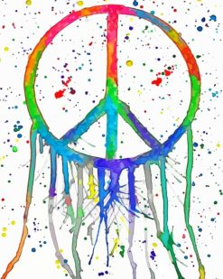 Colorful Peace paint by numbers