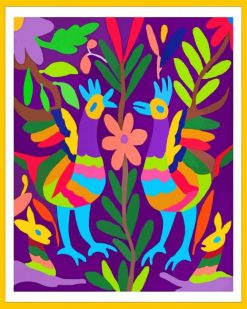 Otomi Birds paint by numbers