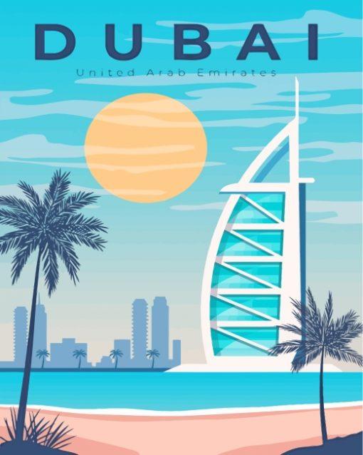 United Arab Emirates Dubai Paint by numbers