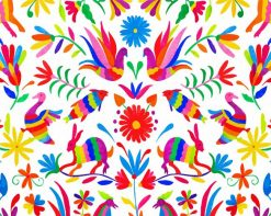 Aesthetic Mexican Otomi paint by numbers