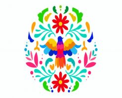 Colorful Otomi paint by numbers
