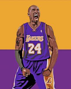 Kobe Bryan Basketball Player Paint by numbers