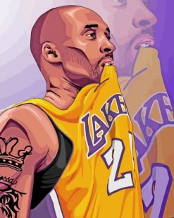Kobe Bryant Player paint by numbers