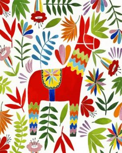 Mexican Otomi Art paint by numbers