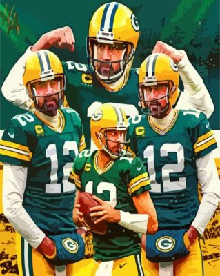 Green Bay Packers Aaron Rodgers  panels paint by numbers